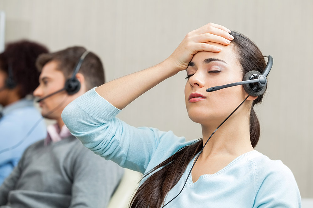 Telephone Customer Service Stress Management